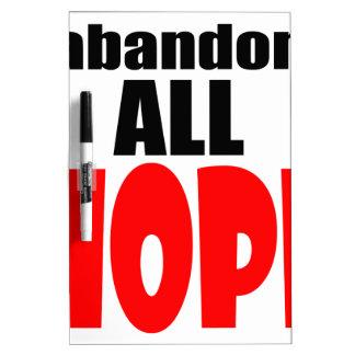 ABANDON all hope abandonallhope marine torpedo lau Dry Erase Board