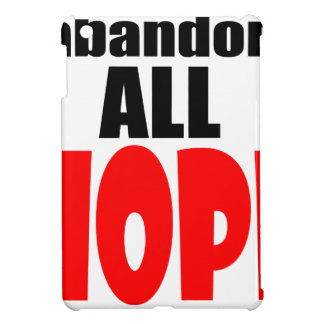 ABANDON all hope abandonallhope marine torpedo lau iPad Mini Cover