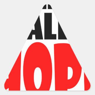 ABANDON all hope abandonallhope marine torpedo lau Triangle Sticker