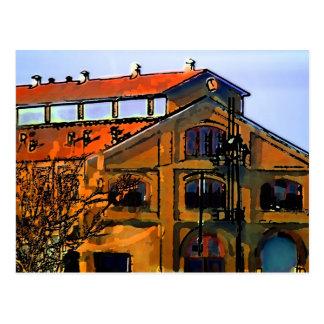 abandon building/ Northern California Postcard