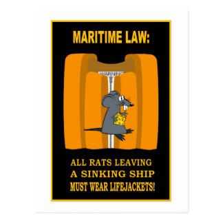 ABANDON SHIP! POSTCARD