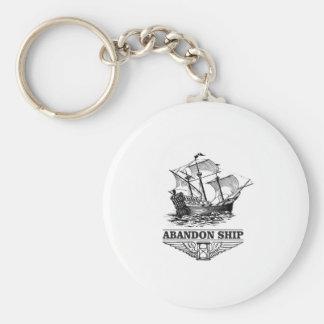abandon ship yeah basic round button keychain