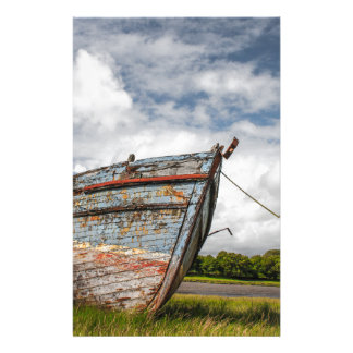 Abandoned Boat at Kirkcudbright Personalized Stationery