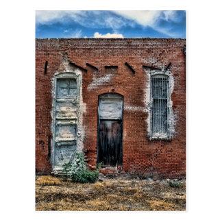 Abandoned building postcard
