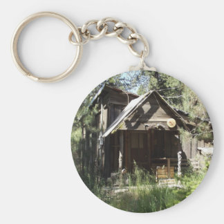 Abandoned Cabin in the Woods Keychain