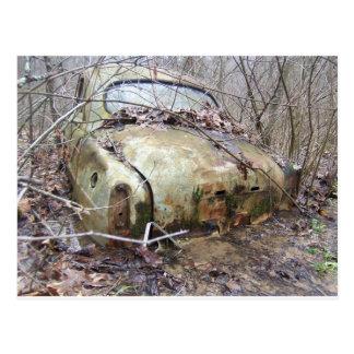 Abandoned Car Postcard
