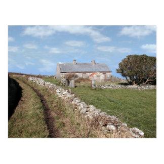abandoned cottage postcard