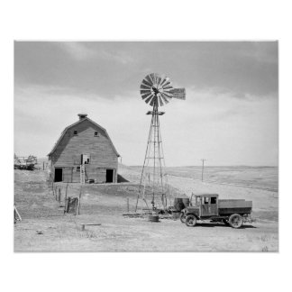 Abandoned Farm, 1936. Vintage Photo Poster