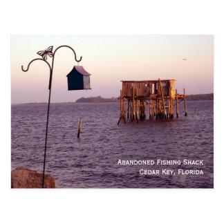 Abandoned Fishing Shack Postcard