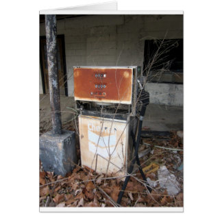 Abandoned Gas Station... original photograph Card