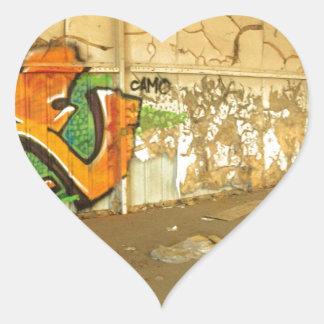 Abandoned Graffiti Heart Sticker