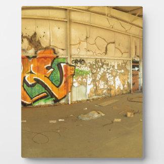 Abandoned Graffiti Plaque