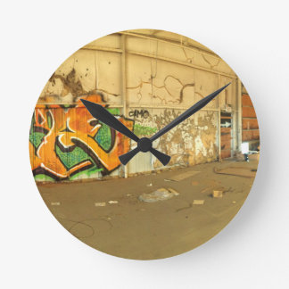 Abandoned Graffiti Round Clock