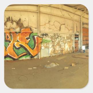 Abandoned Graffiti Square Sticker