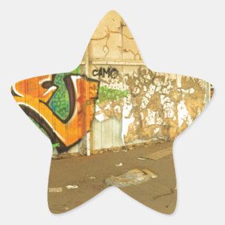 Abandoned Graffiti Star Sticker