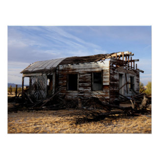 Abandoned House In Kelso California Poster
