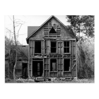 Abandoned house in White Marsh Virginia Postcard