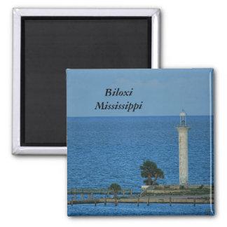 Abandoned Lighthouse Square Magnet