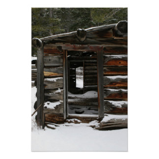 Abandoned Log Cabin, Colorado Poster