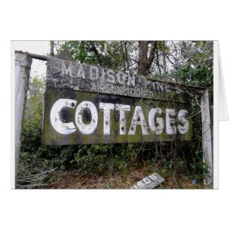 Abandoned Motor Inn Sign Card