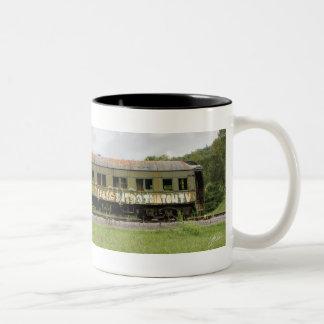 Abandoned Old Train left on the Tracks Two-Tone Coffee Mug