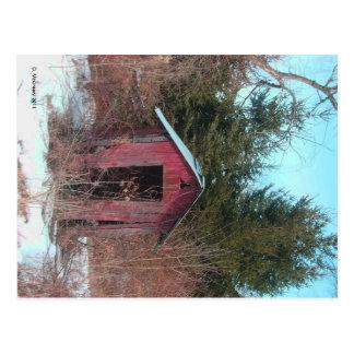 Abandoned Outhouse Postcard
