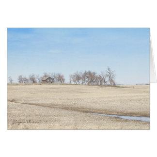 Abandoned Prairie Homestead In North Dakota #1 Card