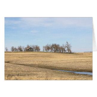 Abandoned Prairie Homestead In North Dakota #2 Card