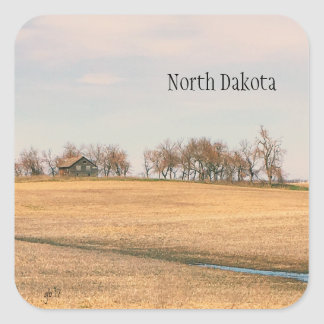 Abandoned Prairie Homestead In North Dakota #3B Square Sticker