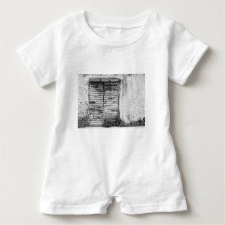 Abandoned shop forgotten bw baby romper