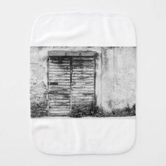 Abandoned shop forgotten bw burp cloth