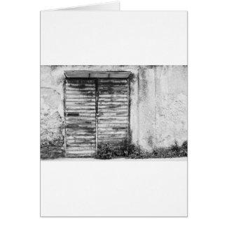 Abandoned shop forgotten bw card