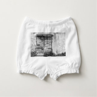 Abandoned shop forgotten bw diaper cover