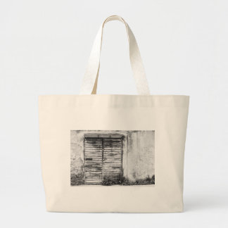 Abandoned shop forgotten bw large tote bag
