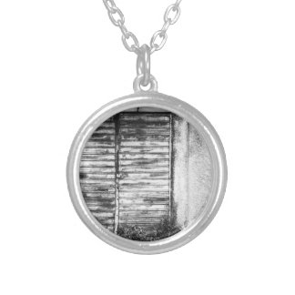 Abandoned shop forgotten bw silver plated necklace
