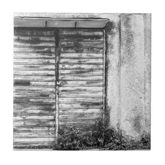 Abandoned shop forgotten bw tile