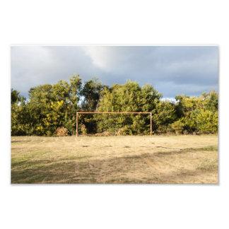 Abandoned Soccer Field Photo Print