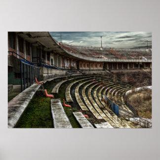 Abandoned stadium poster