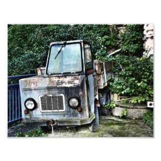 Abandoned truck photo art