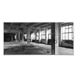 Abandoned urban architecture – interior spaces photo print