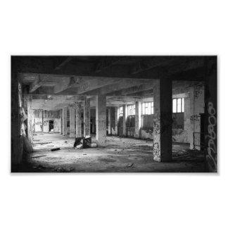 abandoned urban interior spaces photo print