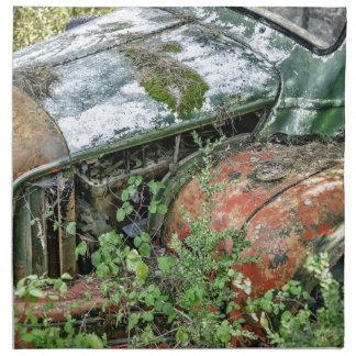 Abandoned Vintage Truck Napkin