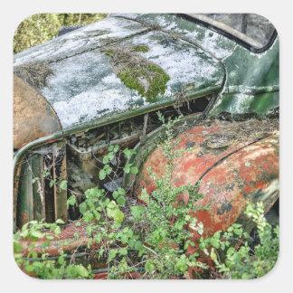 Abandoned Vintage Truck Square Sticker