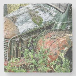 Abandoned Vintage Truck Stone Coaster