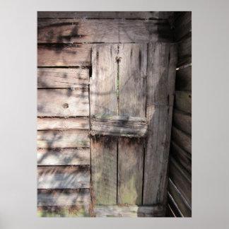 Abandoned Weathered Barn Door Poster