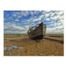 Abandoned Wooden Fishing Boat   Dungeness Postcard