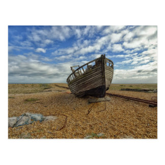 Abandoned Wooden Fishing Boat | Dungeness Postcard