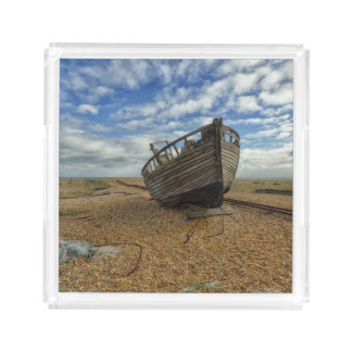 Abandoned Wooden Fishing Boat | Dungeness Serving Tray