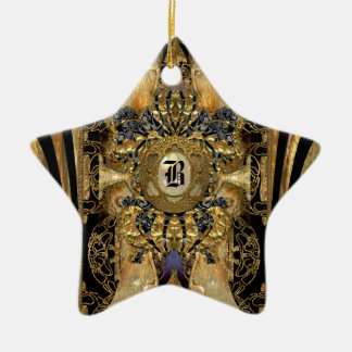 Abasham Victorian Star Monogram Ceramic Ornament