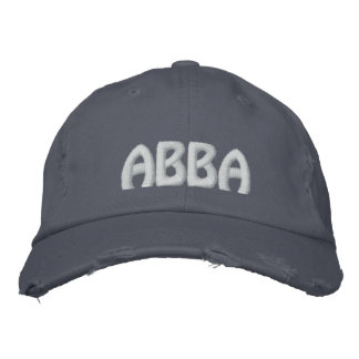 "ABBA - Aramaic word for ""father."" Embroidered Baseball Caps"